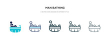 Man Bathing Icon In Different ...