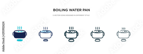 Vászonkép boiling water pan icon in different style vector illustration