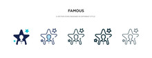 Famous Icon In Different Style Vector Illustration. Two Colored And Black Famous Vector Icons Designed In Filled, Outline, Line And Stroke Style Can Be Used For Web, Mobile, Ui