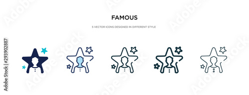 famous icon in different style vector illustration Canvas Print