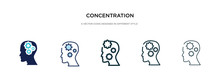Concentration Icon In Differen...