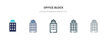 Office Block Icon In Different...