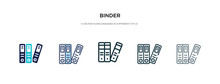 Binder Icon In Different Style...