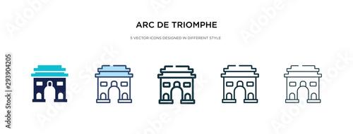 Valokuva  arc de triomphe icon in different style vector illustration