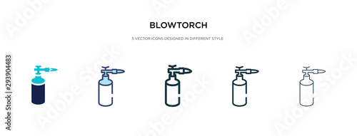 blowtorch icon in different style vector illustration Canvas Print