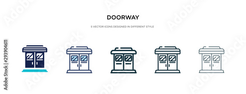 doorway icon in different style vector illustration Canvas-taulu