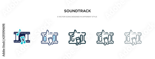 soundtrack icon in different style vector illustration Canvas Print