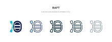 Raft Icon In Different Style V...