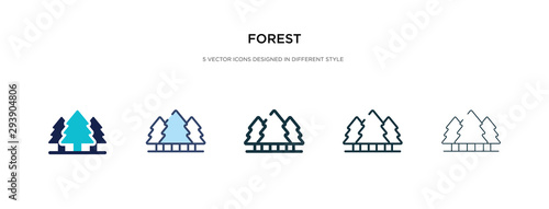Fototapeta forest icon in different style vector illustration