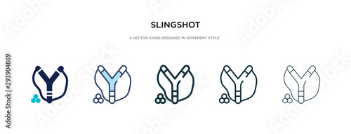 Valokuva slingshot icon in different style vector illustration