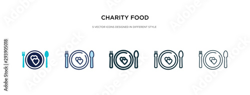 Photo charity food icon in different style vector illustration