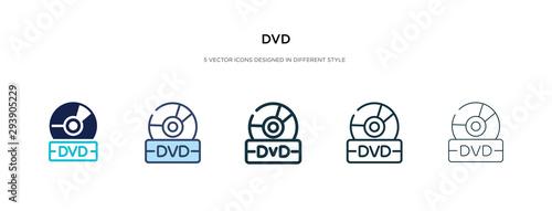 Fotografía dvd icon in different style vector illustration