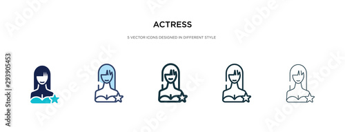 Fotomural actress icon in different style vector illustration