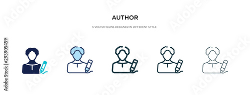 author icon in different style vector illustration Canvas