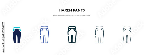 harem pants icon in different style vector illustration Fototapet