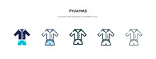 Pyjamas Icon In Different Styl...