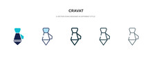 Cravat Icon In Different Style...