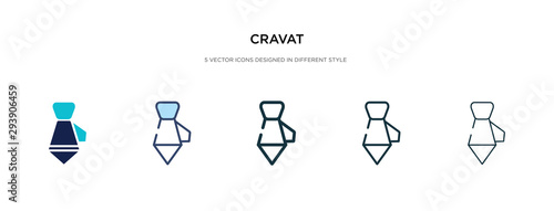 Fotografía cravat icon in different style vector illustration