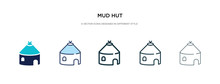 Mud Hut Icon In Different Style Vector Illustration. Two Colored And Black Mud Hut Vector Icons Designed In Filled, Outline, Line And Stroke Style Can Be Used For Web, Mobile, Ui