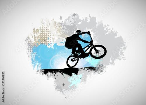 Sport illustration of bmx rider Wallpaper Mural