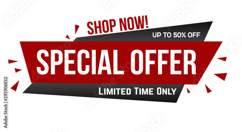 Cuadros en Lienzo  Special offer banner design