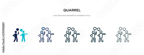 quarrel icon in different style vector illustration Slika na platnu