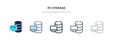 Pc Storage Icon In Different S...