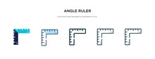Angle Ruler Icon In Different ...