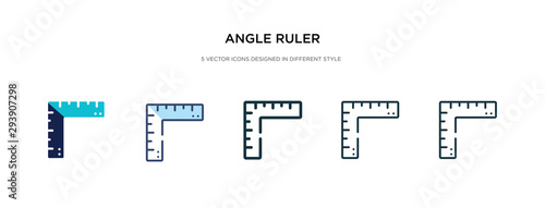 angle ruler icon in different style vector illustration Canvas Print