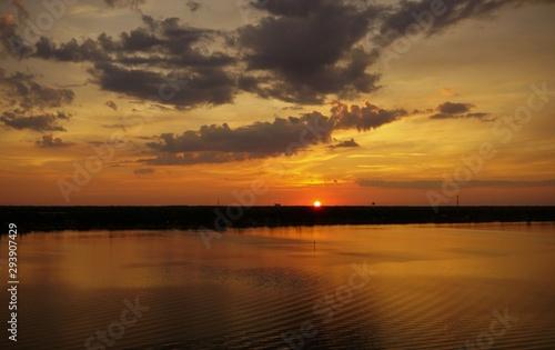 sunset on lake, sunset, water, sky, sun, landscape, sunrise, evening, reflection, nature, dusk, clouds, cloud, night, beautiful, beauty, view, travel, calm, trip