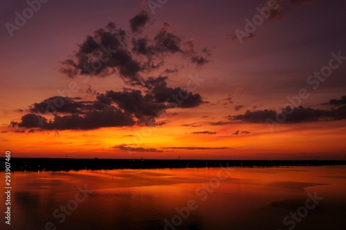 sunset on lake, sunset, water, sky, sun, landscape, sunrise, evening, reflection, nature, dusk, clouds, cloud, night, beautiful, beauty, view, travel, calm, trip
