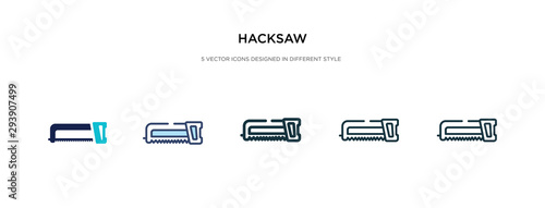 hacksaw icon in different style vector illustration Canvas-taulu