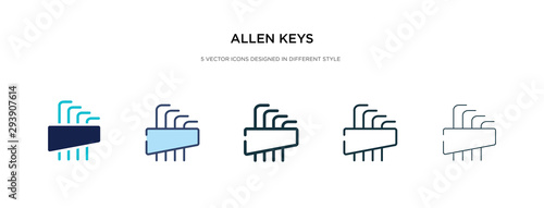 Photo allen keys icon in different style vector illustration