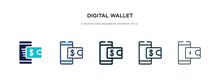 Digital Wallet Icon In Differe...