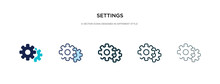 Settings Icon In Different Sty...