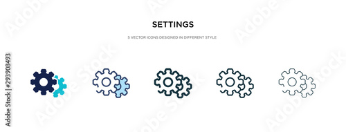 Fotografie, Obraz settings icon in different style vector illustration