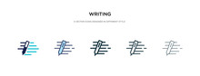 Writing Icon In Different Style Vector Illustration. Two Colored And Black Writing Vector Icons Designed In Filled, Outline, Line And Stroke Style Can Be Used For Web, Mobile, Ui