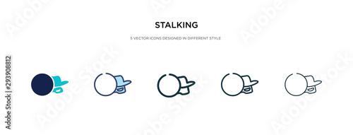 stalking icon in different style vector illustration Obraz na płótnie