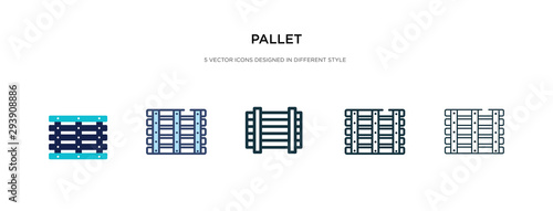 Fotografia pallet icon in different style vector illustration