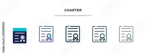 charter icon in different style vector illustration Wallpaper Mural