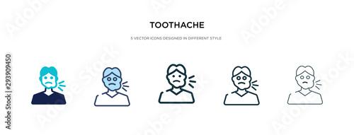 Carta da parati toothache icon in different style vector illustration