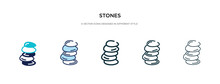 Stones Icon In Different Style...