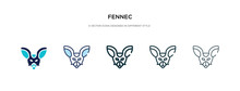 Fennec Icon In Different Style...