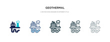 Geothermal Icon In Different S...