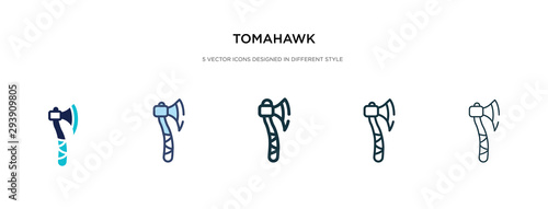 Tela tomahawk icon in different style vector illustration
