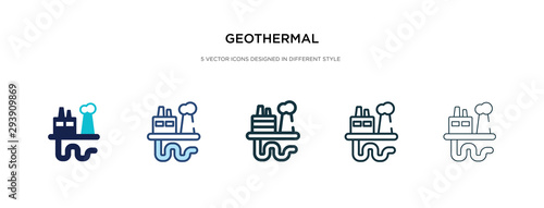 geothermal icon in different style vector illustration Canvas Print
