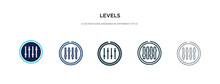 Levels Icon In Different Style...