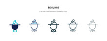 Boiling Icon In Different Styl...