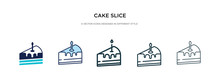 Cake Slice Icon In Different S...