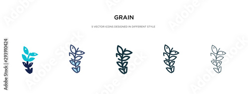 grain icon in different style vector illustration Fototapeta